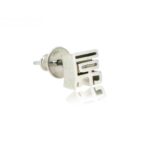 HK265~ 925 Silver <屌> Earring