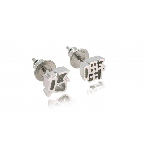 HK283~ 925 Silver <好嘢> Earrings