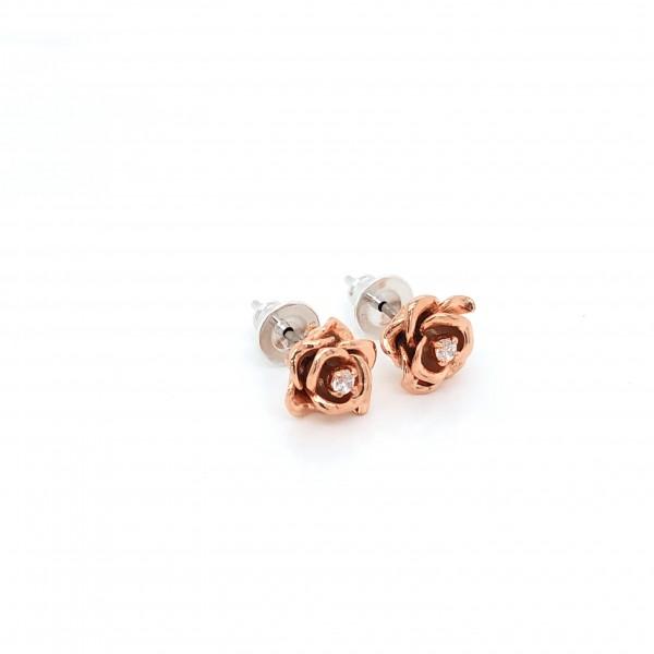 HK353~ 925 Silver Rose Earrings