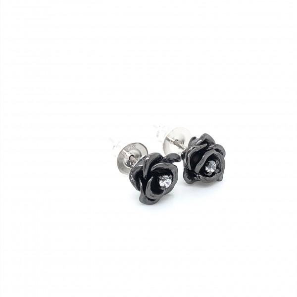 HK354~ 925 Silver Rose Earrings