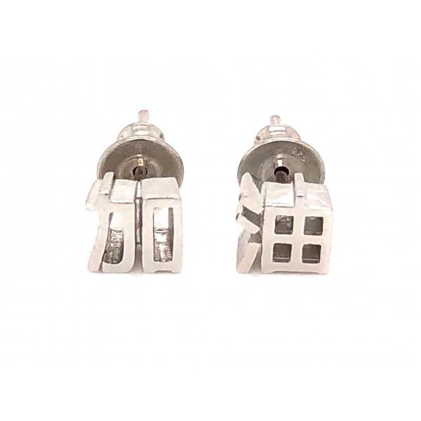 HK298~ 925 Silver <加油> Earrings