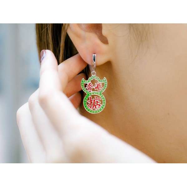 HK321~ 925 Silver Neon Sign Earrings (can order with clips version)