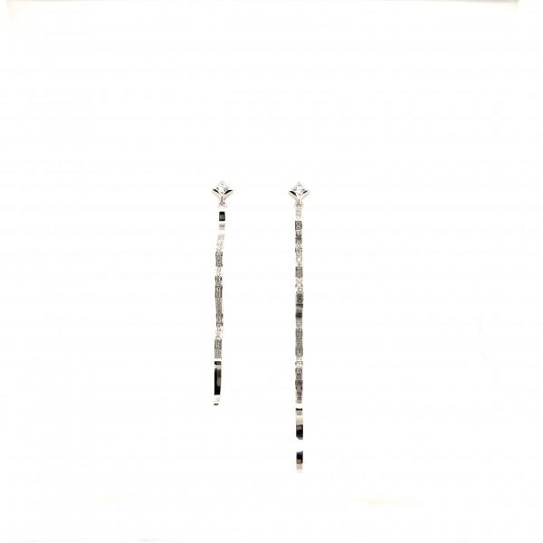 HK324~ 925 Silver Victoria Harbour View & Lion Rock Earrings
