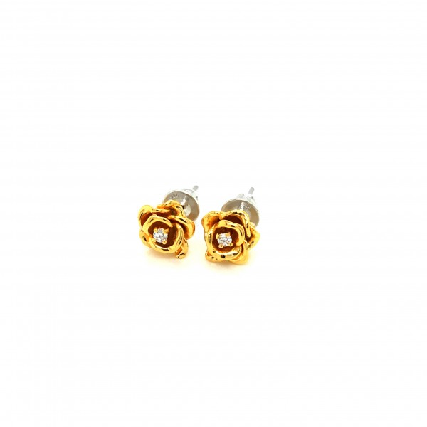 HK409~ 925 Silver Rose Earrings