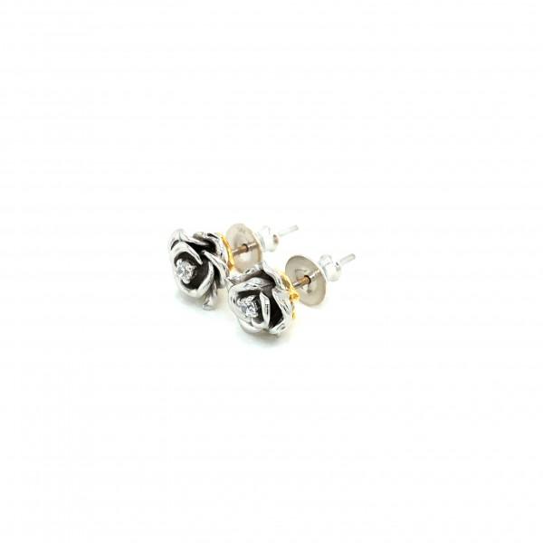 HK410~ 925 Silver Rose Earrings