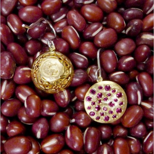 HK012~ 925 Silver Chinese Pudding Earrings