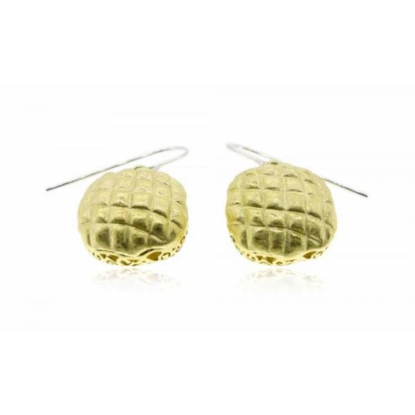 HK019~ 925 Silver Pineapple Bun Earrings(15mm)