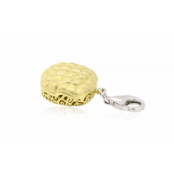 HK027~ 925 Silver Pineapple Bun Charm(15mm)