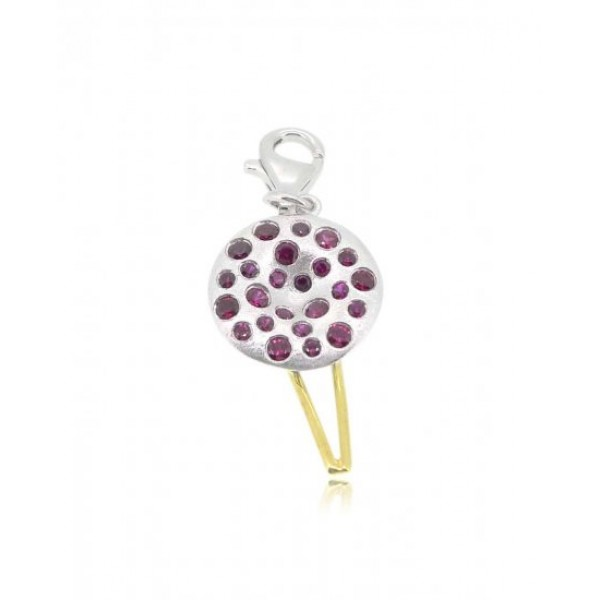 HK036~ 925 Silver Chinese Pudding Charm(15mm)