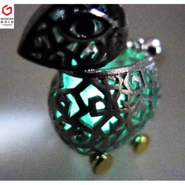 """HK038~ 925 Silver Rabbit Lantern Pendant w/ 18"""" Necklace"""
