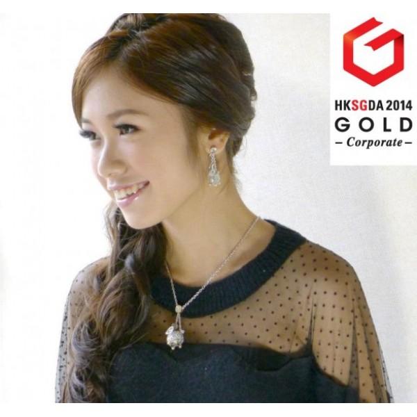HK039~ 925 Silver Rabbit Lantern Earrings