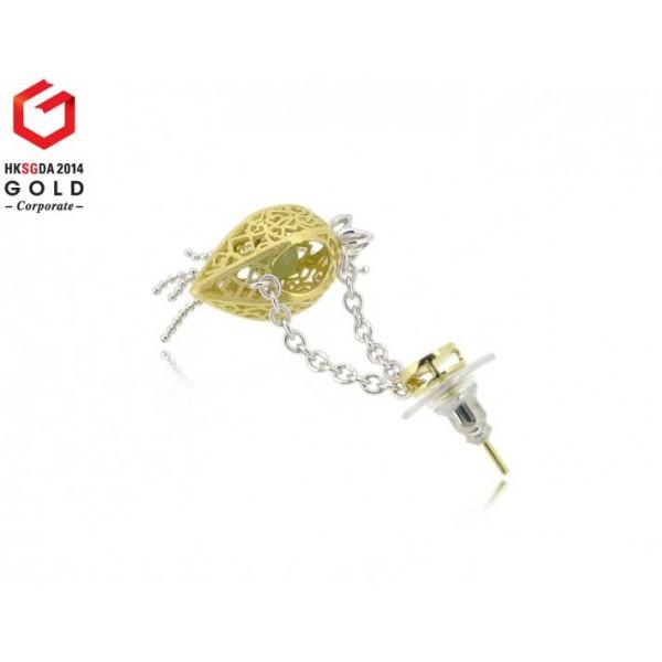 HK041~ 925 Silver Starfruit Lantern Earrings