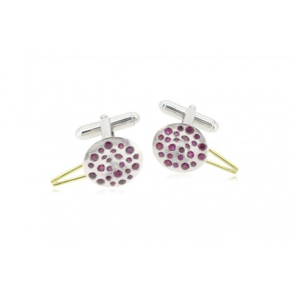 HK050~ 925 Silver Chinese Pudding Cuff Link(15mm) per pair