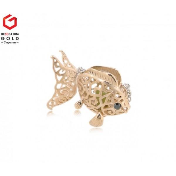 "HK058~ 925 Silver Goldfish Lantern Pendant w/ 18"" Necklace"