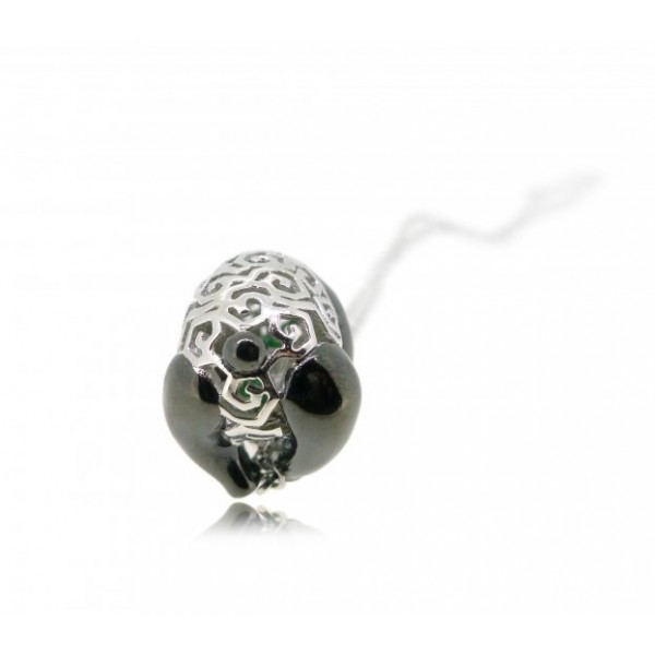 """HK066~ 925 Silver Panda Pendant with 18"""" Silver Necklace"""
