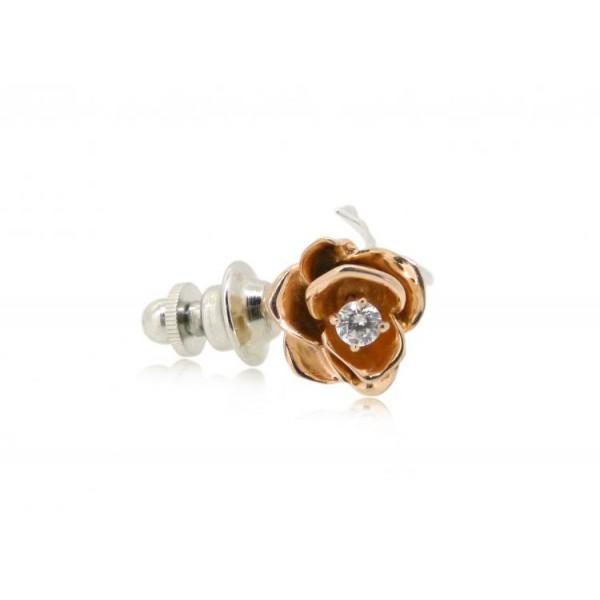 HK096~ 925 Silver Rose Brooch