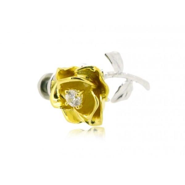 HK097~ 925 Silver Rose Brooch