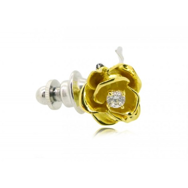 f5ab7d58dcb HK097~ 925 Silver Rose Brooch