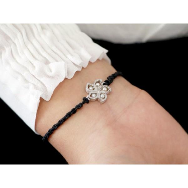 HK168 ~ 925 Silver Bauhinia Rope Bracelet