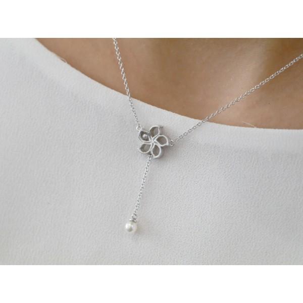 HK173 ~ 925 Silver Bauhinia Necklace