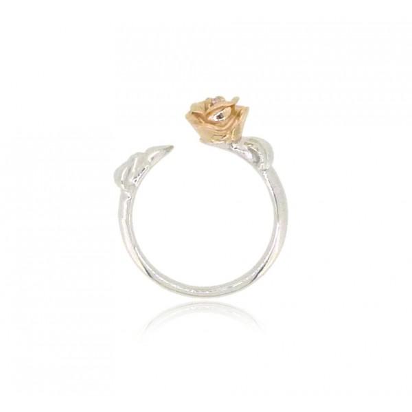 HK193~ 925 Silver Rose Ring