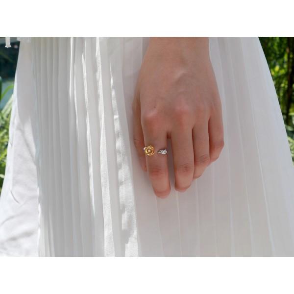 HK194~ 925 Silver Rose Ring