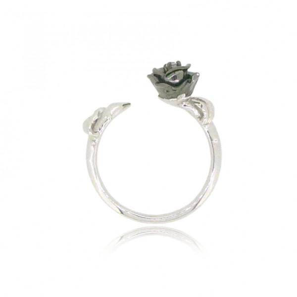 HK195~ 925 Silver Rose Ring