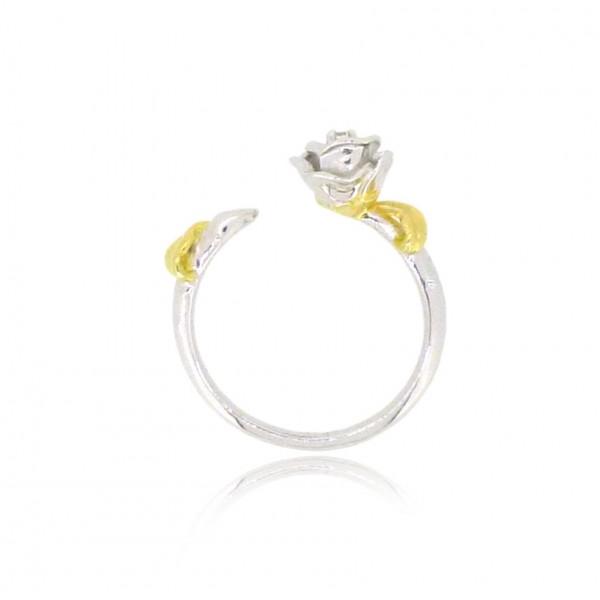 HK196~ 925 Silver Rose Ring