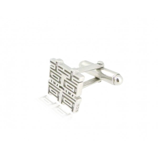 HK211~ 925 Silver <囍> Double Happiness Cufflinks /pair