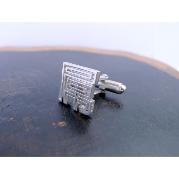 HK212~ 925 Silver <屌> FxxK Cufflink /piece