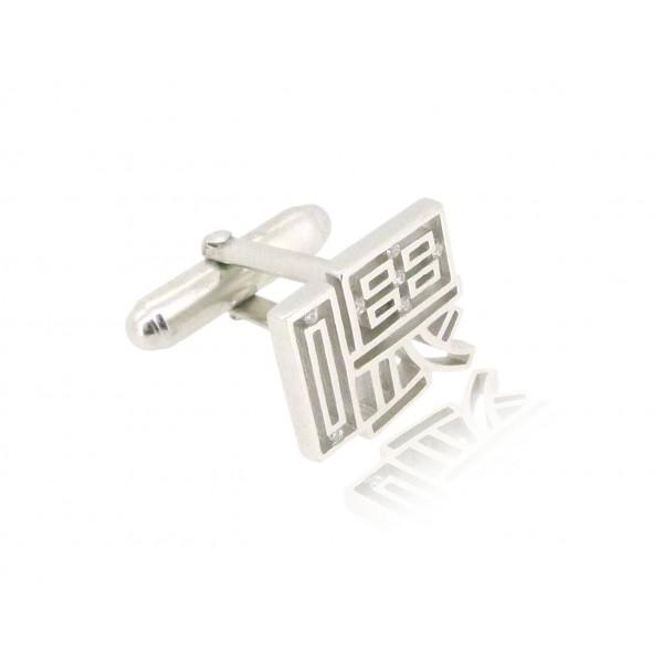 HK215~ 925 Silver <喂> Hey Cufflink /piece