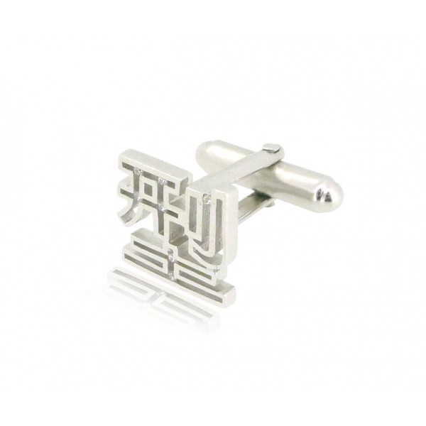 HK217~ 925 Silver <型> Cool Cufflink /piece