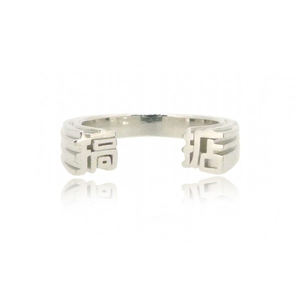HK229~ 925 Silver <搞掂> OK Ring