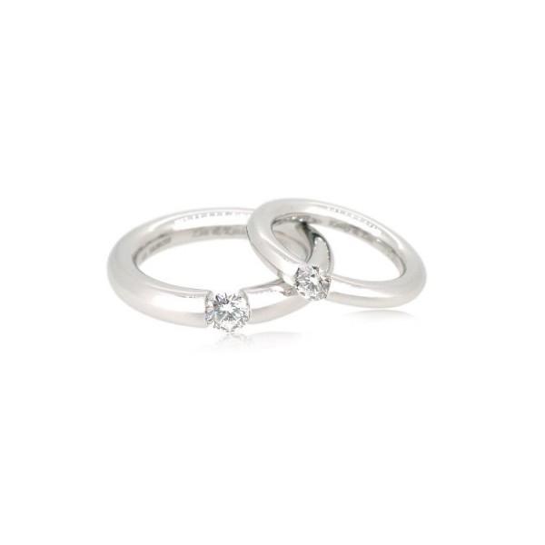 OD018~ 18K White Gold Diamond Wedding Rings