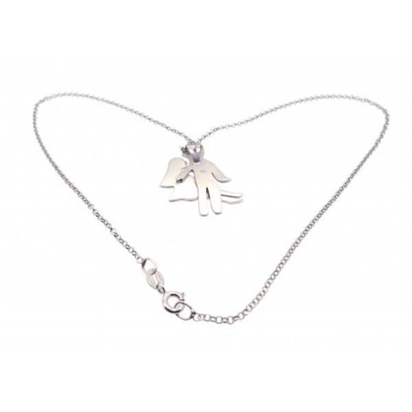 """OD040~ 925 Silver Pendant with 16"""" Necklace"""