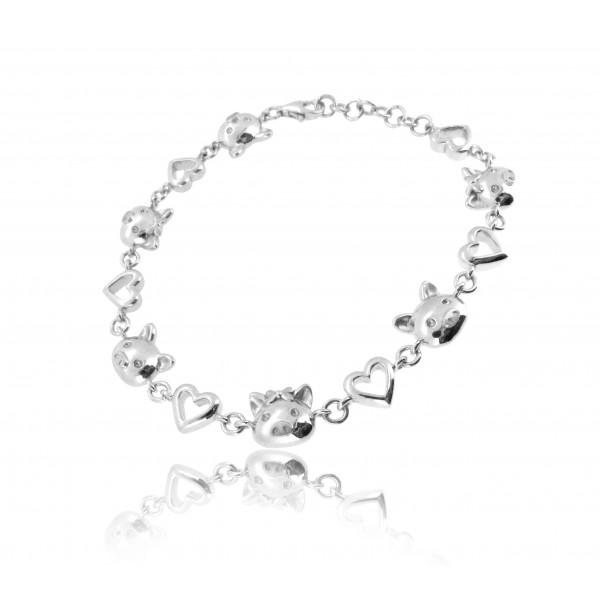 OD085~ 925 Silver Piggy Bracelet