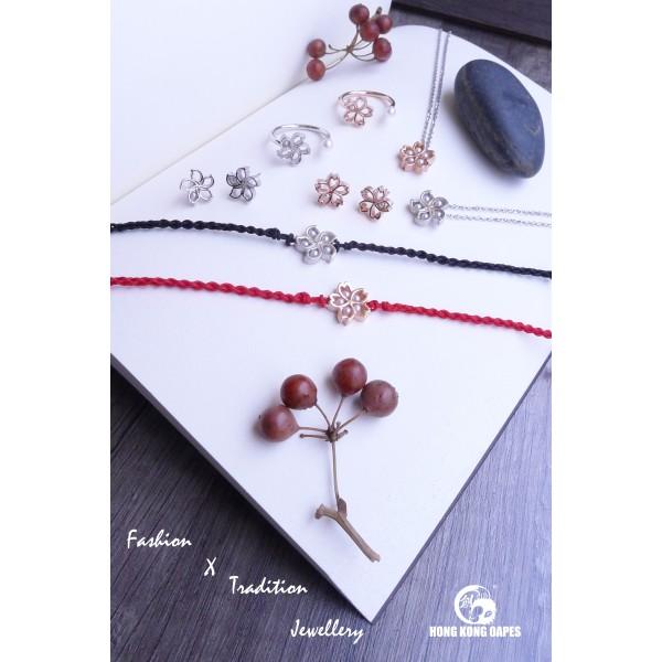 HK167 ~ 925 Silver Bauhinia Earrings